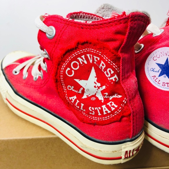 Limited Edition Red Bottom Chuck Taylor'sConverse